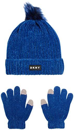 DKNY Mädchen Mütze und Handschuhe Set -  Blau -