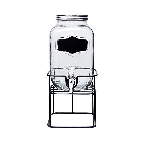 ブラックボード ペイント グラス ドリンクディスペンサー ホルダーセット Black Board Paint Glass Drink Dispenser Holder Set