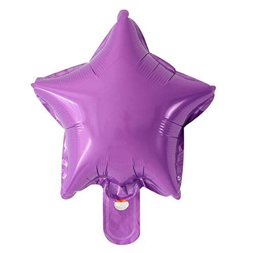Luftballons 20pcs / lot Stern-Herz-Folien-Ballone Hochzeit Geburtstag Partei Hintergrund Dekor Luft aufblasbares Globos Kind Geschenke Spielzeug Supplies ( Ballon Size : 10inch , Color : Ight purple )