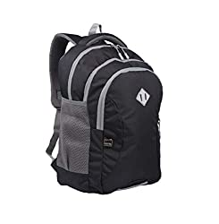 JAPSBAG 29 ltrs Casual Office Laptop Backpack Backpack for Men Women with Free RAIN Cover Black | 1042,Japsbag,1042