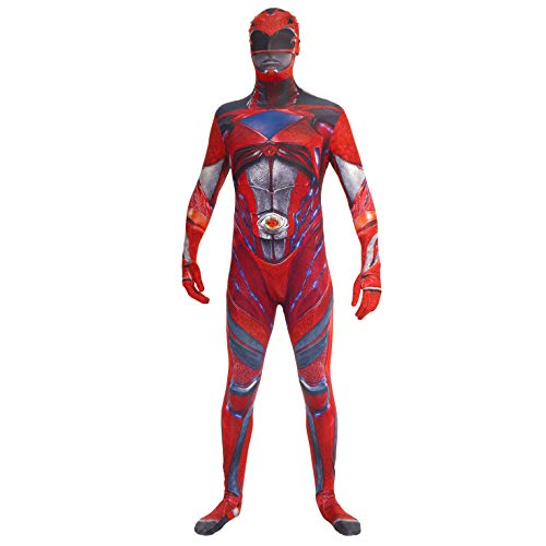 Morphsuits Mlprmdrm 150 - 162 cm ufficiale Red Deluxe Movie Power Ranger Fancy Dress costume (Medium)