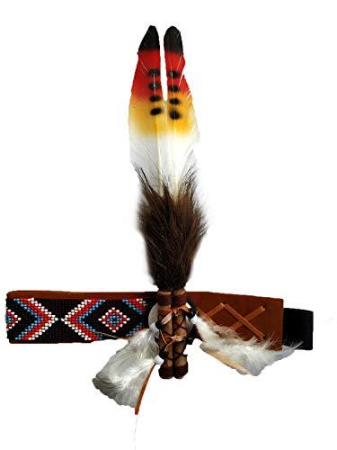 Stirnband für Erwachsene, mit Federn, Indianer-inspiriert, lustiges Kostüm-Accessoire, Kopfschmuck