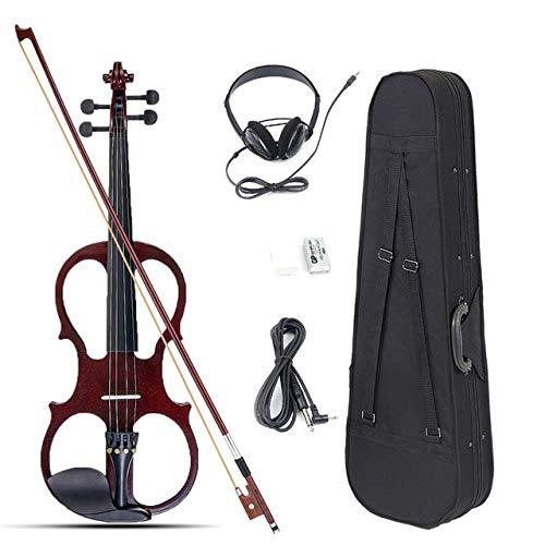 4/4 Elektro-Akustik-Violine, Bass Holz Fiddle mit Violin-Fall-Abdeckung Bogen für Musiksaiteninstrument Lovers Anfänger.
