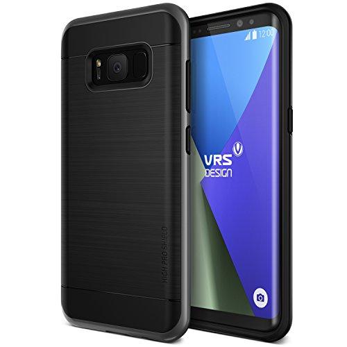 VRS DESIGN High PRO Shield Custodia per Samsung Galaxy S8+–Argento Scuro