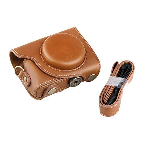 PDXD-share Kamera Tasche PU-Leder-Schutzhülle für Canon Powershot G9 X Kompakte Systemkamera (Braun)