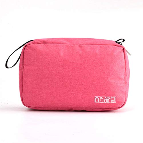 JYDQM Bolsa de Aseo de Viaje Colgante para Hombres y Mujeres Bolsa de Maquillaje Bolsa de cosméticos Bolsa de Almacenamiento de baño Organizador de Ducha (Color : Pink)