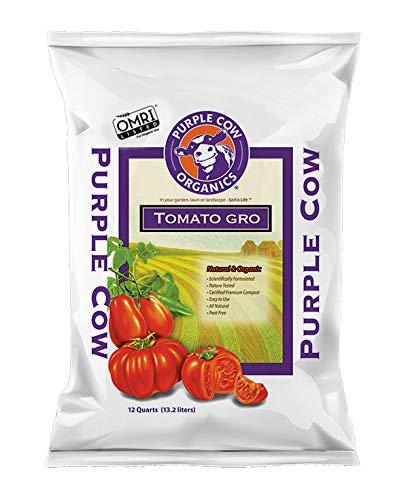 Purple Cow Organics Tomato Gro Compost, Soil Enhancer 12 QT Bag