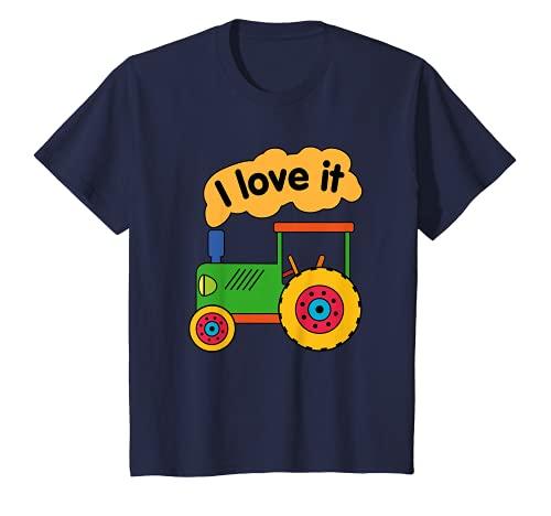 Niños Me gustan los tractores, máquinas agrícolas, granjas y animales. Camiseta