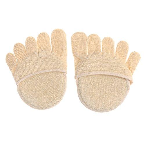 Supvox 1 Paar Unsichtbare Zehensocken Mittelfuß Pads Yoga Sportsocken Zehenspreizer Fünf Finger Socken für Trockene Haut (Hautfarbe)