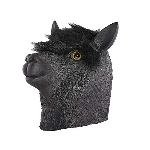 A-myt Comedia única Partido de Halloween Fauna Black Masks Máscaras de látex Juego Agradable (Color : Black, Size : One Size)