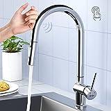 Synlyn Touch Sensor Wasserhahn Küche Einhandmischer für Küchen Spüle 360° Schwenkbar...