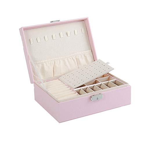 JISHIYU - Q - Caja de regalo de lujo para collar de gama alta europea, caja de almacenamiento de joyas de gran capacidad, apto para pendientes, collares, anillos y pulseras