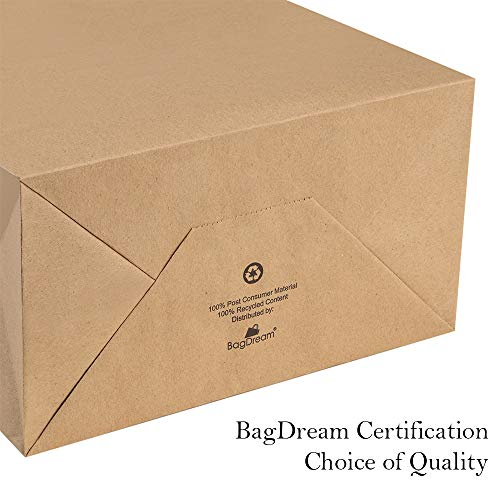 BagDream Kraft Paper Bags 5x3x8& 8x4.25x10& 10x5x13 25 Pcs Each, Gift Bags, Kraft Bags,Shopping Bags With Handles, Paper Shopping Bags, Craft Bags, Merchandise Bags, 100% Recyclable Paper