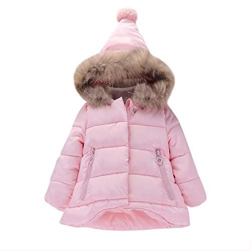 OVERMAL Baby Mädchen Daunenjacke Baby Kleinkind Mädchen Winterjacke Kinderjacken Winter Warm Mantel Jacke Dicke Kleidung Winter (3 Jahre, Rosa)