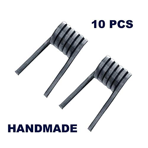 Handmade Pre Built Fused Clapton Coil - Household Wire Usage - 2x0.4 NiCr + 0.1NiCr - 10 Pieces