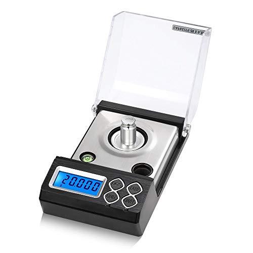 50g / 0,001g Mini balanza electrónica de alta precisión escala de miligramos digital profesional escala de polvo joyería de oro escala de quilates 30g
