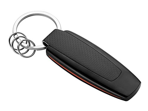 Original Mercedes-Benz, Key Ring, Model Series AMG Stainless Steel/Carbon Fibre, Black/Silver-Coloured/red
