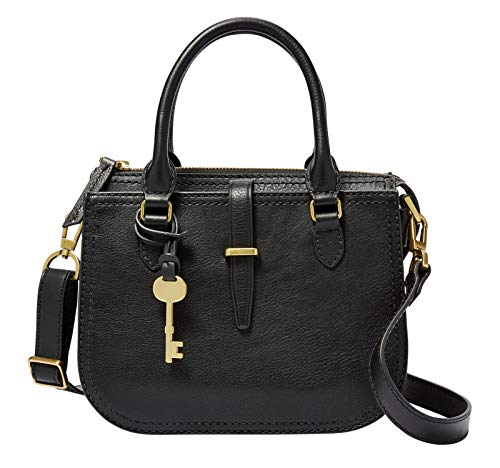 Fossil Damen Handtasche Tasche Ryder Mini Satchel Leder Schwarz ZB7587-001