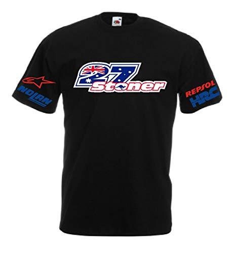 Generico t-Shirt Stoner 27 MotoGP Casey alle Größen Geschenkidee 5 Farben selbst für Kinder - Schwarz, S