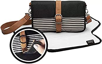 Baby Portable Changing Pad Diaper Clutch - Small Diaper Bag with Complete Changing Station for Busy Moms On the Go | Extra-Pockets, Waterproof Mat, Wipes Holder, and Crossbody Shoulder Strap Included