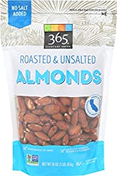 365 Everyday Value, Almonds, Roasted & Unsalted, 16 oz