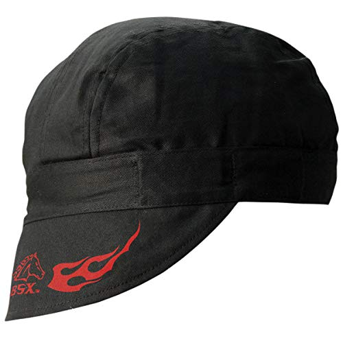 Revco REVCO - BC5W-BK Armor Cotton Welding Cap, 100% Cotton Double Layer Protection