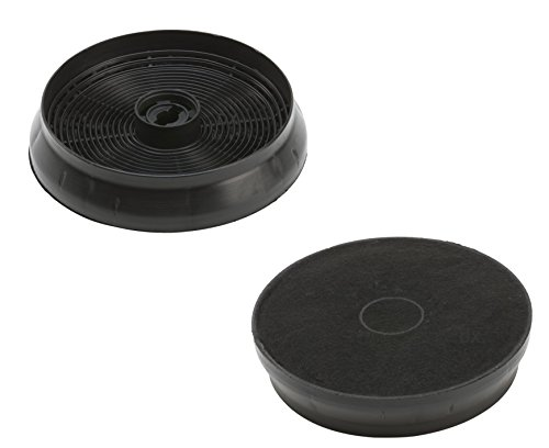 DREHFLEX - 2 Stück Aktivkohlefilter Kohlefilter Carbonfilter Dunstabzugshaube 145mm - passend für Refsta Hauben - passend für Kohlefilter K25.1