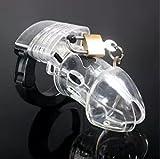 Loveusexy Prima de grado m¨¦dico Plasticone Cast-idad dispositivo masculino escritos transparente