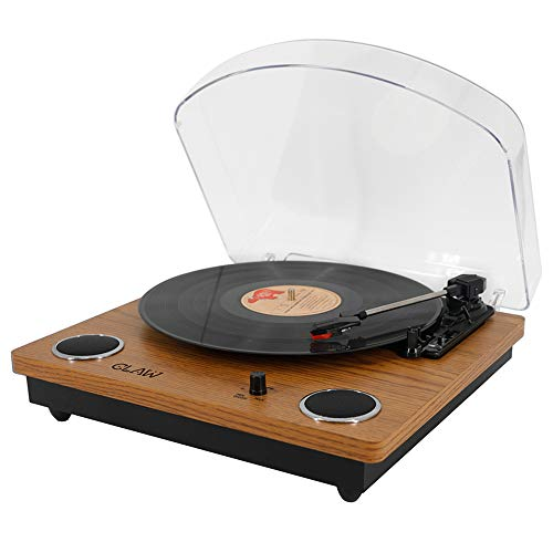 CLAW Stag Superb Plus Vinyl Record Player 3 Speed Turntable with Built-in Stereo Speakers and USB Digital Conversion Software for...