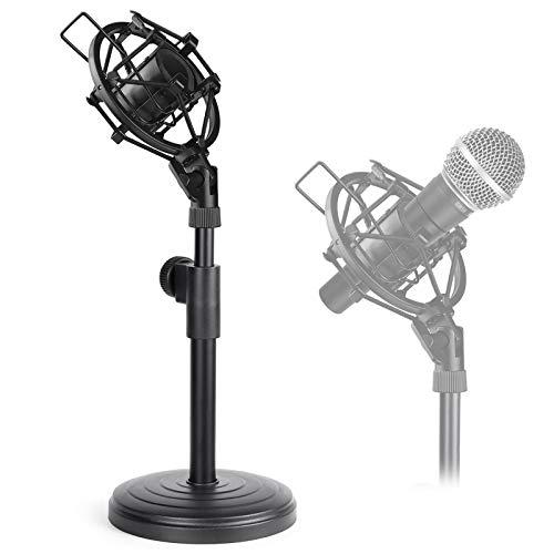 Support de Microphone de Bureau, Pied de Micro de Table Réglable avec Anti-choc pour Shure SM58 SM57 Dynamique Microphone par Avatar