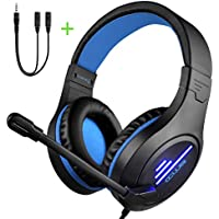 Colusi Over-Ear Gaming Headset with HD Mic&LED Light