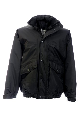 Black Knight 4XL JKC koerier weerbestendige Bomber jas - zwart