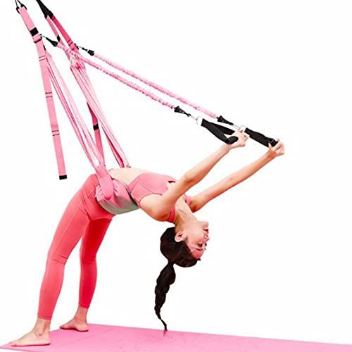 Cinturón de Yoga elástico de Cadera Abierta de Caballo de una Palabra Cuerda Invertida Tirar Cinturón elástico Divisiones Entrenador de Cintura Inferior Cuerda de Yoga aérea
