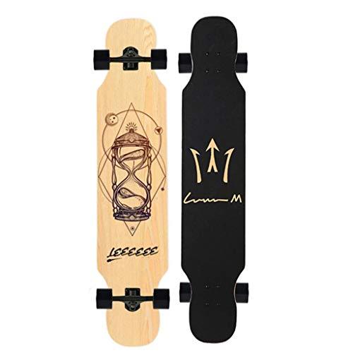 qwert Longboard 46.5Inch, Drop-Through Freeride Skaten Cruiser Boards, für Cruising, Skulptur, Kür, Downhill und Tanzen für Erwachsene, Jungen/Mädchen/Jugendliche