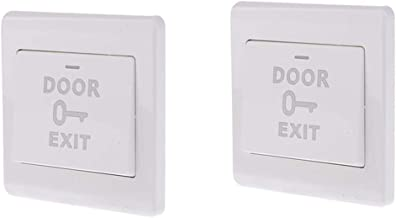 Baosity 2 Packs 12V Door Exit Button K6 Switch Night Light Home Security Kit White