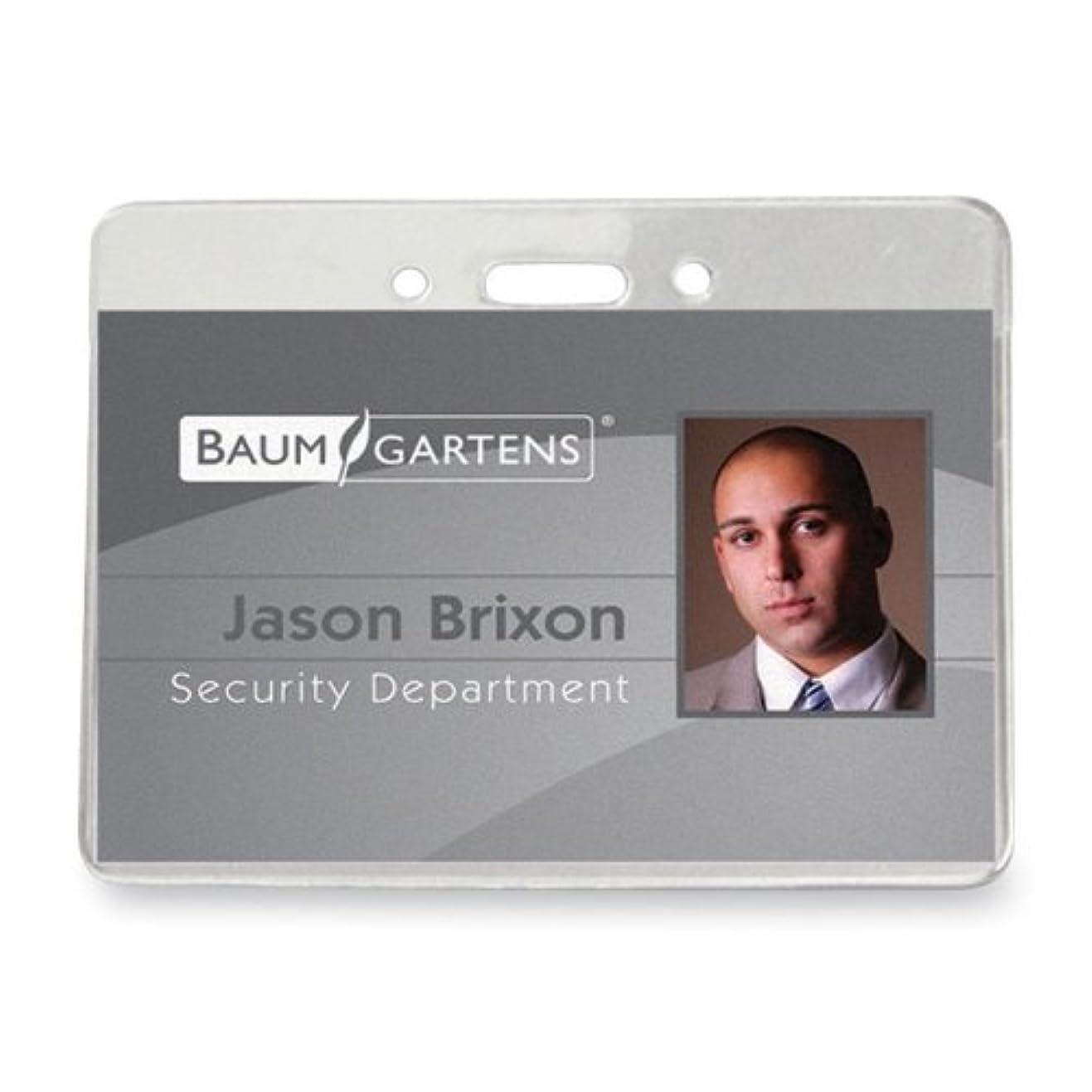糞七時半見てBaumgartens BAU67870 Govt Badge Holder,Vinyl,Horizontal,3.88 in. x 2.63 in.,50-PK,CL