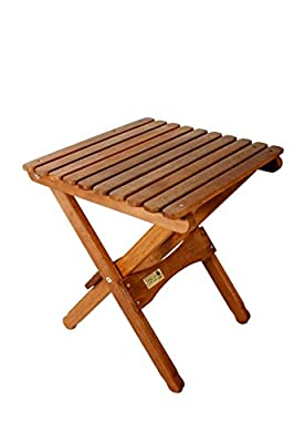 BYER OF MAINE, Pangean, Folding Wood Table, Hardwood, Folding Patio Table, Porch Table, Easy to Fold and Carry, Perfect for Camping, Wooden Camp Table, Matches Pangean Furniture Line, Single