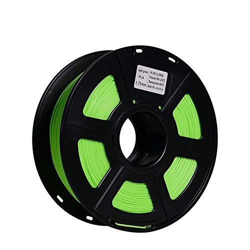 Materiali di Consumo PLA Filamento 3D Stampante Filamento di Seta Verde Stampante 3D Filamento Stampante 3D PLA PLA Incandescenza per Stampanti 3D e 3D Penne (Color : Green)