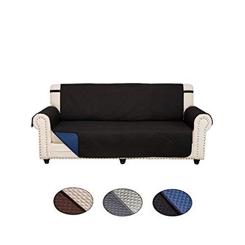 CINIBRO - Funda de sofá Acolchada Impermeable Reversible, Doble Correa Antideslizante, Ideal para Perros y Gatos