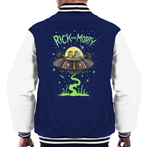 Rick and Morty In The Space Cruiser Men\'s Varsity Jacket