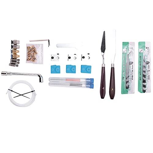 Camisin Kit de Boquillas de Impresora 3D de 41 Piezas para Ender 3 V2 CR10 Ender 5, Boquilla de Acero Endurecido MK8, Bloque Calefactor CR10