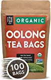 Organic Oolong Tea Bags | 100 Tea Bags | Eco-Conscious Tea Bags in Kraft Bag | Raw from China | by FGO