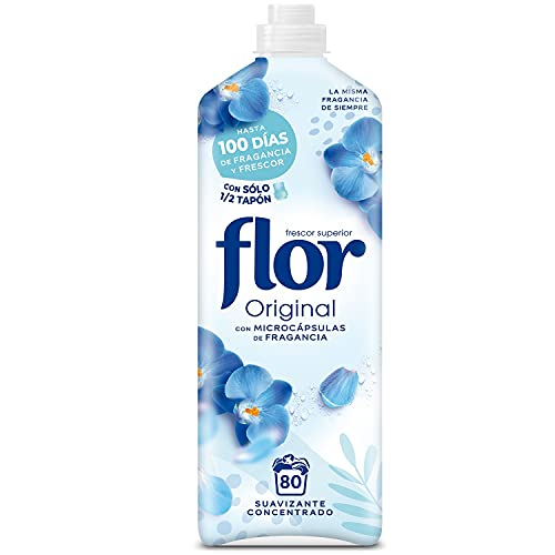 Flor Original - Suavizante concentrado para la ropa, aroma...