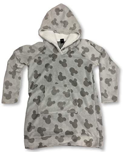Women's Mickey Mouse Lounger with Sherpa Hood (X-Small 0/2) Gray
