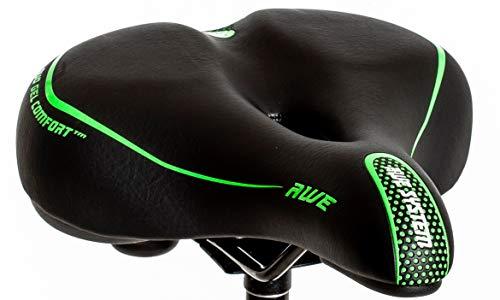 AWE Adult Ladies EXTREME COMFORT Large E Bike/City Bicycle Saddle Green, Black