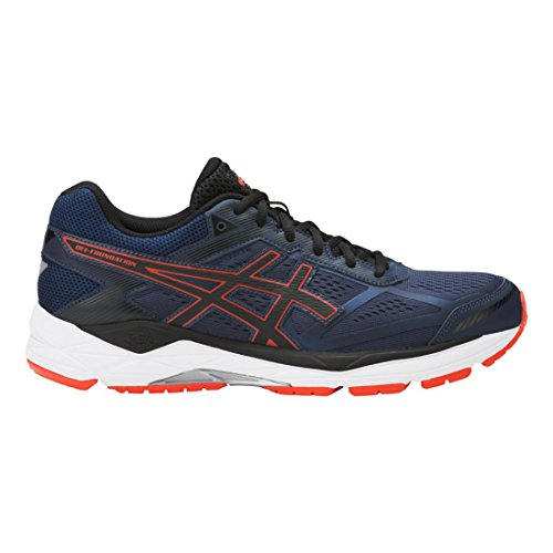 ASICS Men's Gel-Foundation 12 Blue/Black/Cherry 8 EEEE US