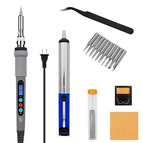 Lötkolben-Kit mit LCD-Digitalanzeige, 90 W Hochleistungs-Lötkolben zum elektrischen Schweißen mit einstellbarer Temperatur für verschiedene Reparaturen/Heimwerkerarbeiten