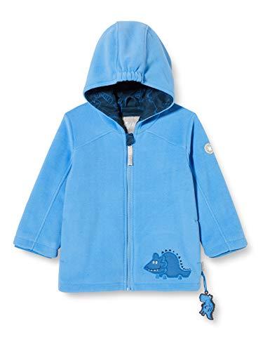 Sigikid Baby-Jungen Fleecejacke mit Kapuze Größe 062-098 Fleece-Jacke, Blau/Dino, 92