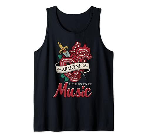 La armónica divertida es el tocino de la música Armónica Camiseta sin Mangas