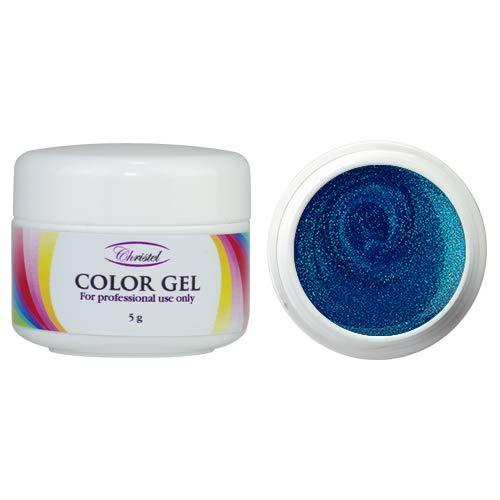 Kristel: uv-kleurgel – actie – 5 g – azuurblauwe kleur met pareleffect – van hoge kwaliteit, geschikt voor professioneel gebruik.